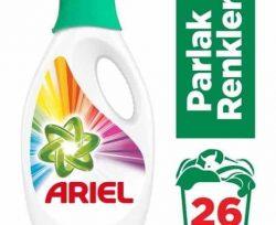 Ariel 26 Yıkama Sıvı Çamaşır Deterjanı Parlak Renkler