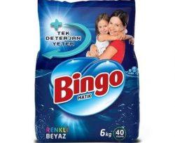 Bingo Toz Çamaşır Deterjanı Renkli Beyaz 6 kg