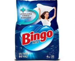 Bingo Toz Çamaşır Deterjanı Ultra Beyaz 4 kg