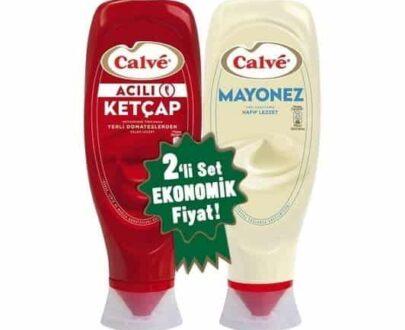 Calve İkili Set Ketçap Acı 600 gr + Mayonez 540 gr
