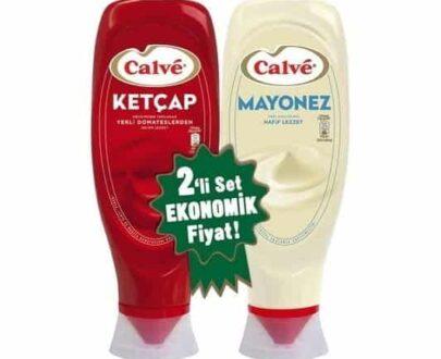 Calve İkili Set Ketçap Tatlı 600 gr + Mayonez 540 gr