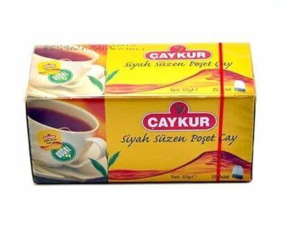 Çaykur Siyah Süzme Bardak Poşet Çay 50 gr