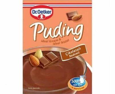 Dr. Oetker Puding Çikolata Bademli 104 gr