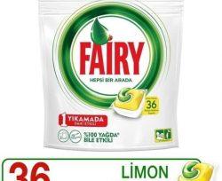 Fairy Hepsi Bir Arada 36 Yıkama Bulaşık Makinesi Deterjanı Kapsülü Limon Kokulu