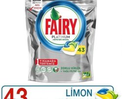 Fairy Platinum 43 Yıkama Bulaşık Makinesi Deterjanı Kapsülü Limon Kokulu