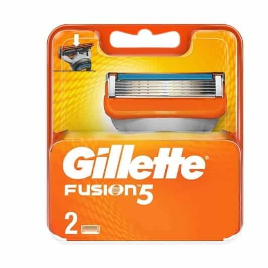 gillette fusion manuel bicak 2li c936