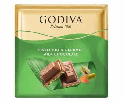 Godiva Antep Fıstıklı Karamel Kare Çikolata 60 gr