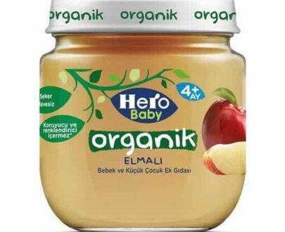 Hero Baby Mama Kavanoz Organik Elma 120 gr