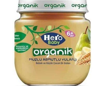 Hero Baby Mama Kavanoz Organik Muz Armut Yulaf 120 gr