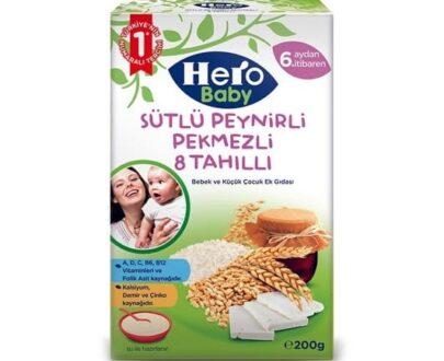 Hero Baby Mama Sütlü 8 Tahıllı Pekmezli 200 Gr