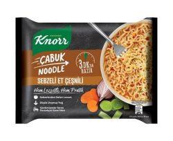 knorr cabuk noodle sebzeli et cesnili