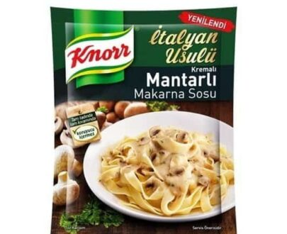 Knorr Kremalı Mantarlı Makarna Sosu