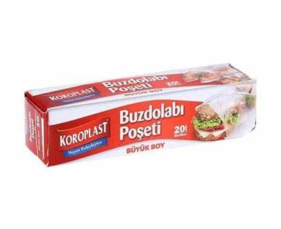 Koroplast Buzdolabı Poşeti Büyük 20'li 30×45