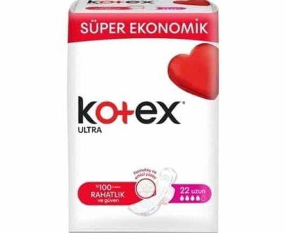 Kotex Ultra Hijyenik Ped Süper Ekonomik Uzun 22'li