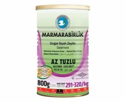 Marmarabirlik Az Tuzlu Siyah Zeytin Teneke Kutu 800 gr (291/320)