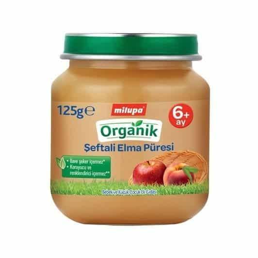 Milupa Organik Şeftali Elma 125 gr