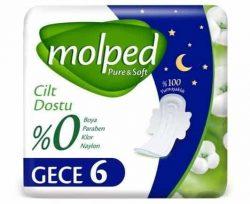 Molped Pure&Soft Tekli Gece 6'lı