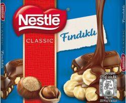 Nestle Classic Sütlü Fındıklı Çikolata 65 g