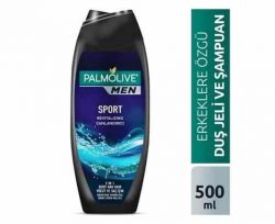 Palmolive Men Sport 3ü 1 Arada Erkek Duş Jeli 500 ml & Yüz Vücut & Saç