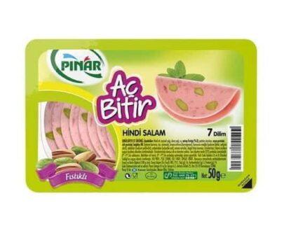 Pınar Aç Bitir Fıstıklı Hindi Salam 50 gr