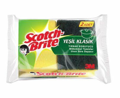Scotch Brite Yeşil Oluklu Sünger 1+1