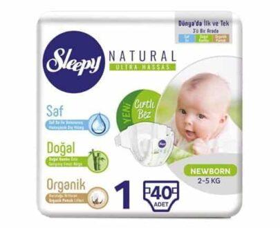 Sleepy Sensitive Yenidoğan Bebek Bezi 40'lı