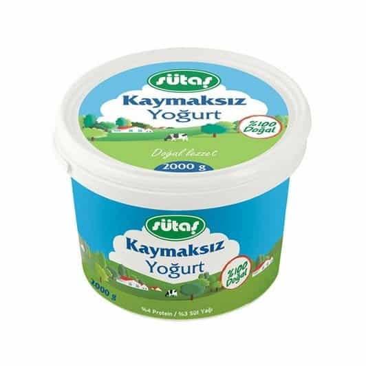 Sütaş Kaymaksız Yoğurt 2000 gr