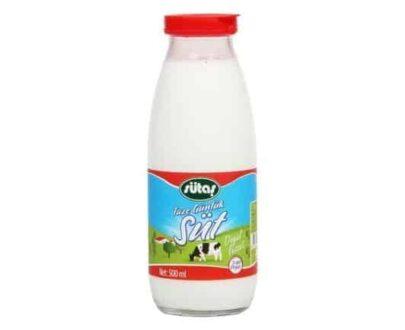 Sütaş Pastörize Günlük Süt Cam Şişe 500 ml