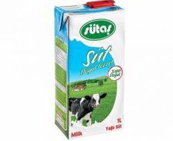 Sütaş Yarım Yağlı Uht Süt 1 lt