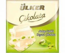 Ülker Beyaz Fıstıklı Kare Çikolata 65 gr