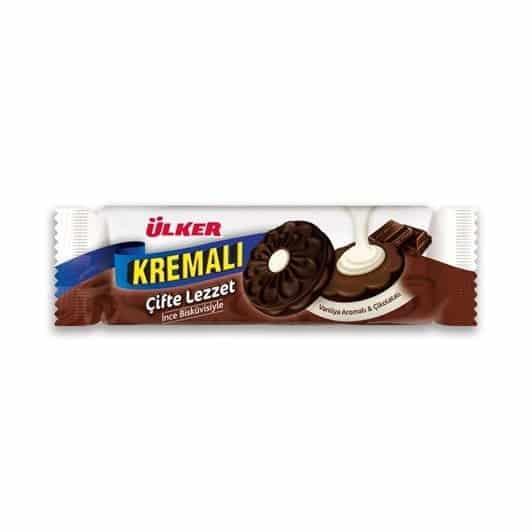 Ülker Kremalı Vanilya Aromalı&Çikolatalı Sandviç Bisküvi 165 gr