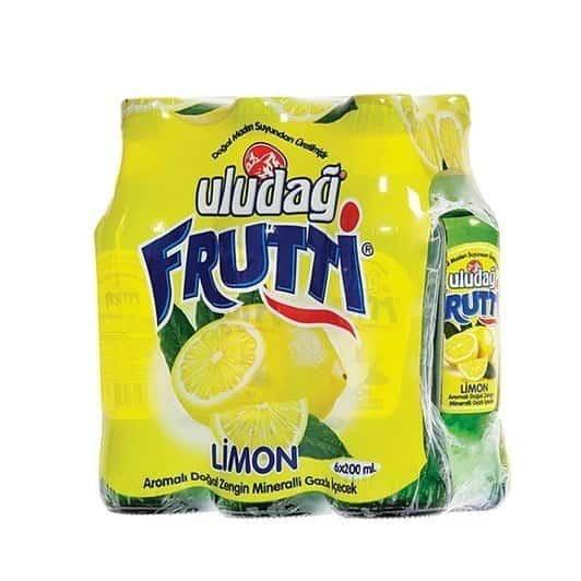 Uludağ Frutti Limon Cam Şişe 200 ml