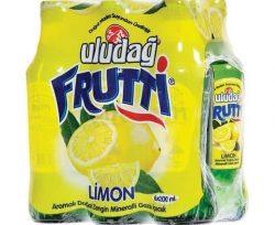 Uludağ Frutti Limonlu Maden Suyu 6×200 ml