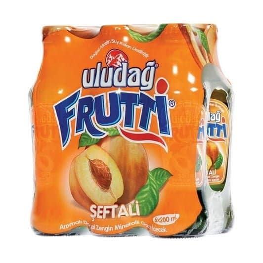 Uludağ Frutti Şeftalili Maden Suyu 6×200 ml