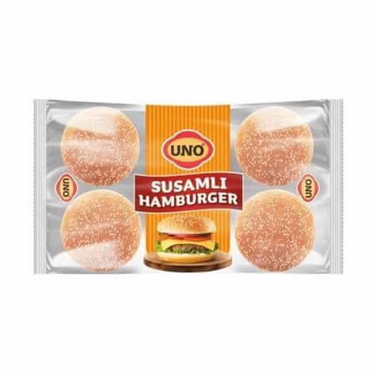 Uno Hamburger Ekmeği Susamlı 6'lı 312 gr