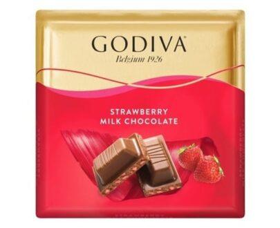 godiva cilekli sutlu kare cikolata 60 gr fc2a