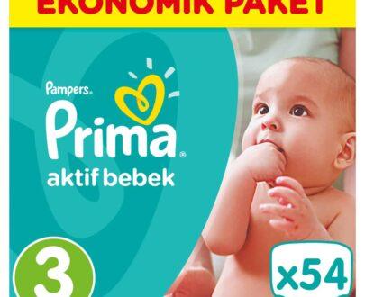 Prima Aktif Bebek 3 Beden Midi Mega Paket 54 Adet