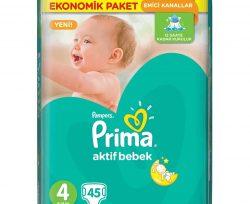 Prima Aktif Bebek 4 Beden Maxi Mega Paket 45′ li