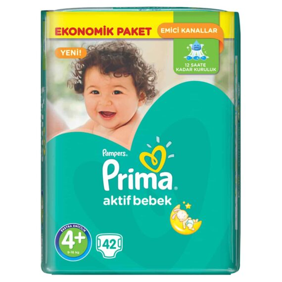 Prima Aktif Bebek 4+ Beden Maxi Plus Ekonomik 42 Adet