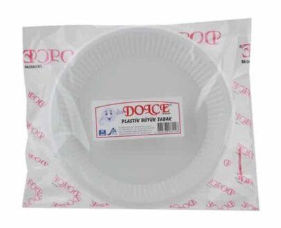 dolce plastik buyuk tabak 10lu c965