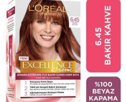 Loreal Excellence 6-45 Sıcak Bakır Kahvesi Saç Boyası