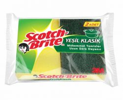 Scotch Brite Yeşil Klasik Sünger 2'li