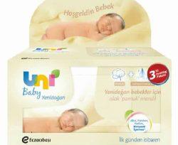 Uni Baby Yenidoğan Islak Mendil 3'lü 40'lı