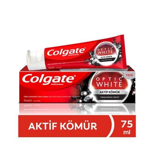 Colgate Optik Beyaz Aktif Kömür Diş Macunu 75 ml