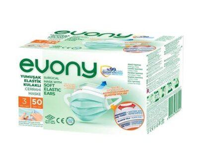 Evony Cerrahi Maske 50 lı
