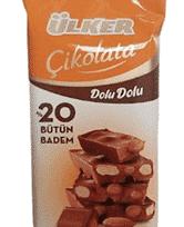 Ülker Çikolata Tableti Dolu Dolu Bademli 50 Gr