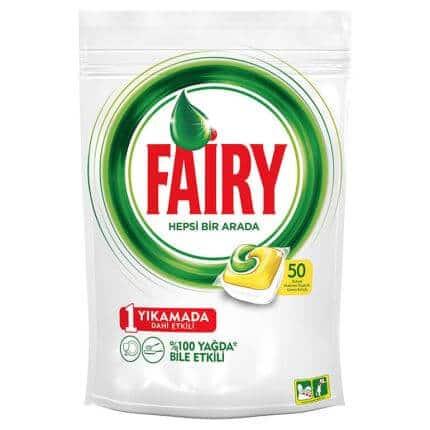 fairy hepsi bir arada bulasik makinesi kapsulu limon 50 adet 044072001548333162