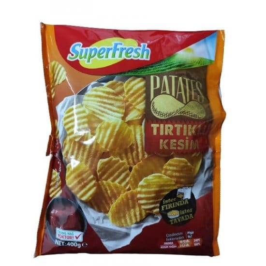superfresh tırtıklı kesim patates 400 gr