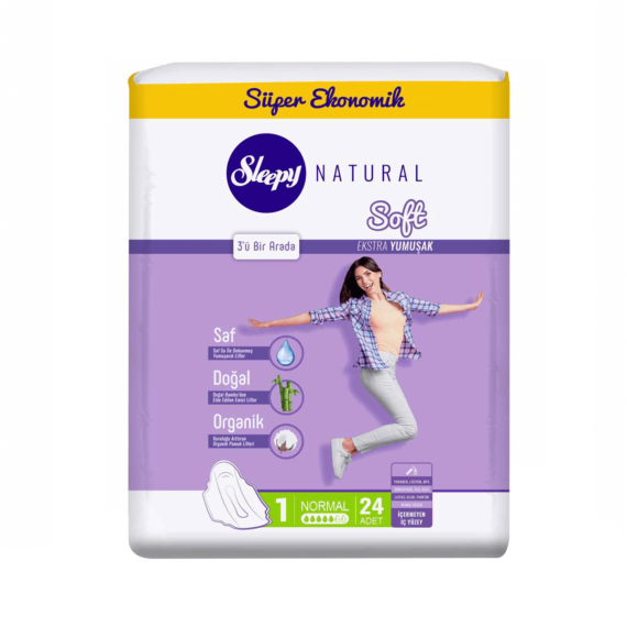 Sleepy Natural Soft İnce Normal 24 Adet